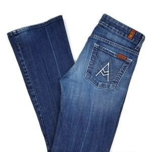 7FAM A Pocket Flare Stretch Fit Denim Jeans